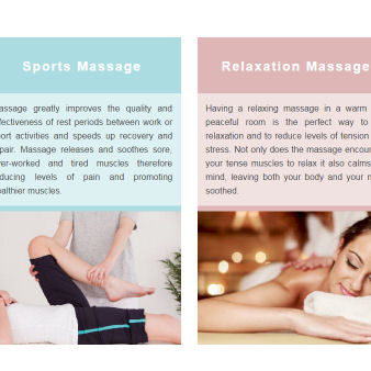 a massage website we worked on